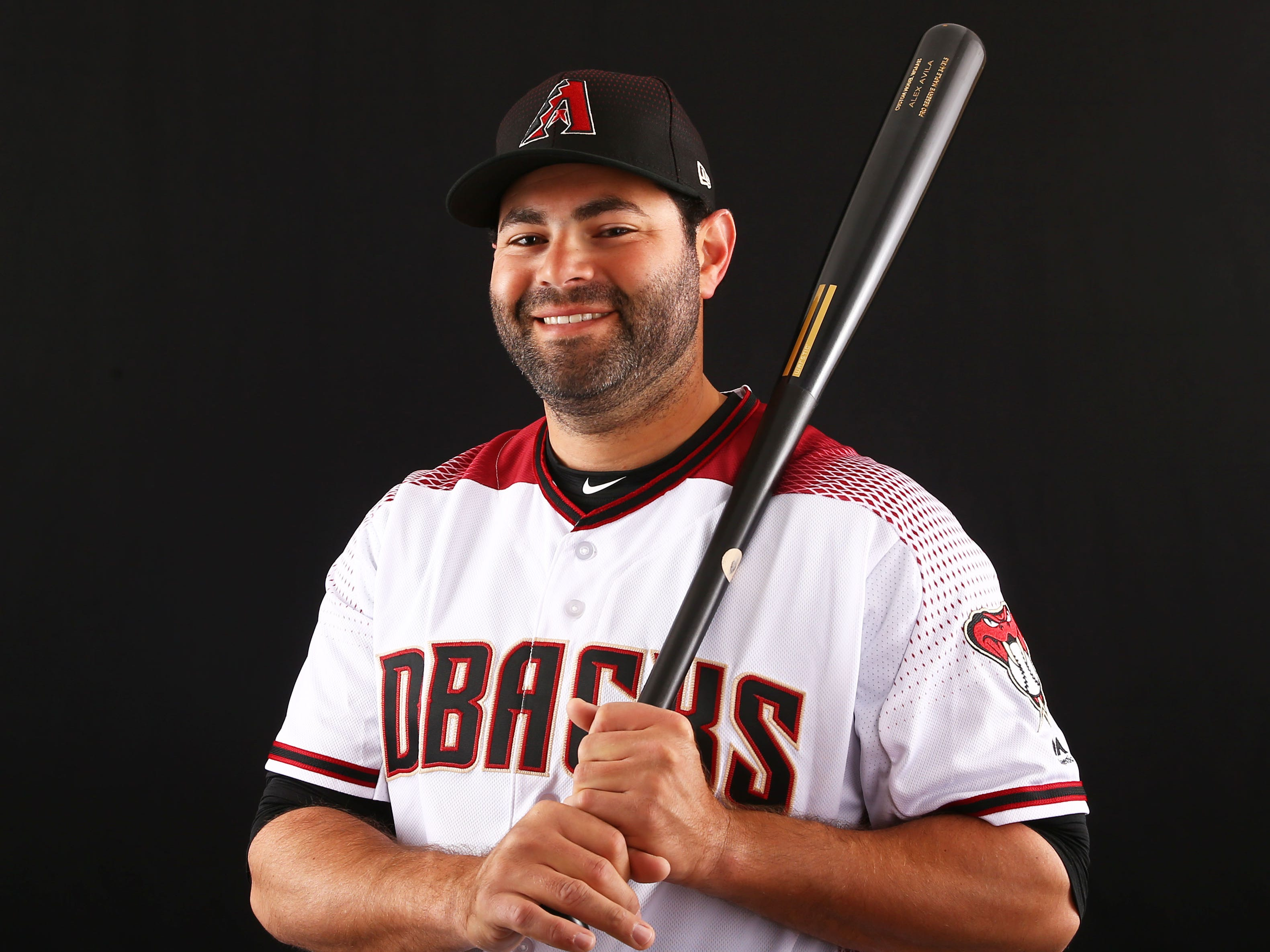 Alex Avila of the Arizona Diamondbacks poses for a photo during the annual Spring Training Photo Day on Feb. 20 at Salt River Fields in Scottsdale, Ariz.