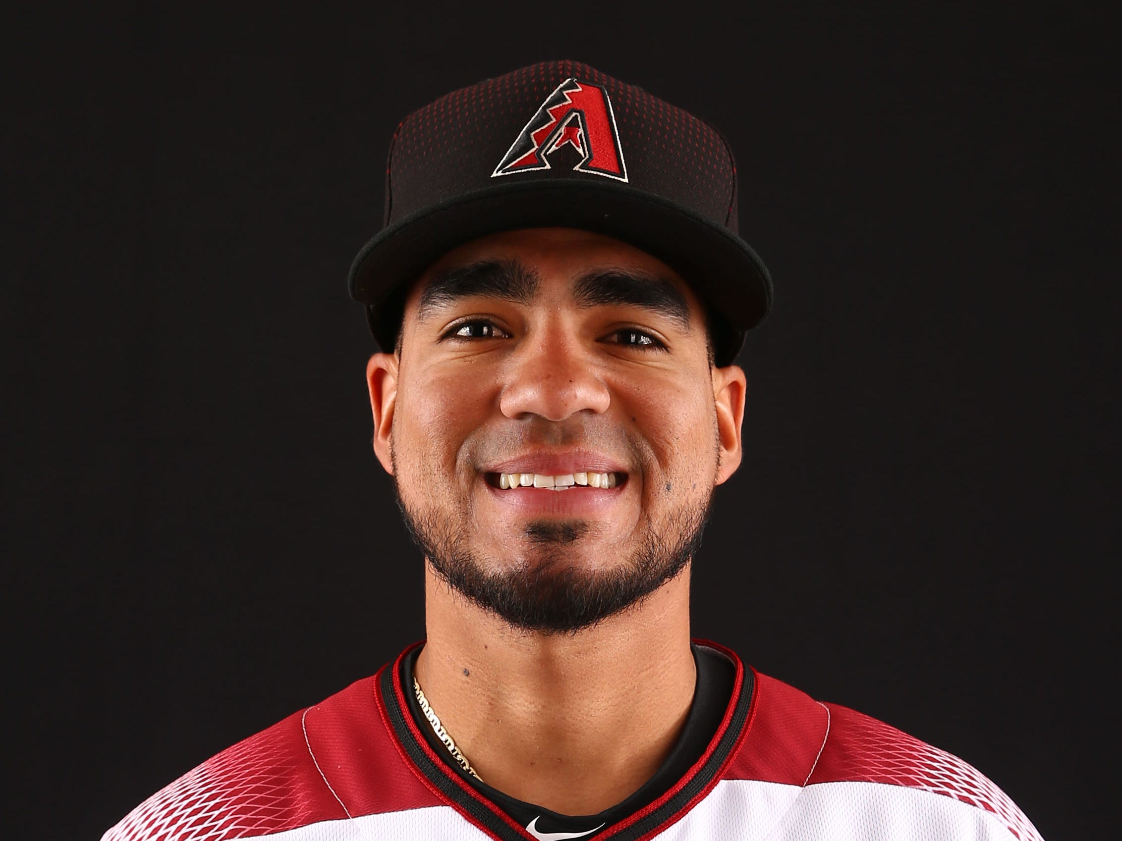 Juniel Querecuto of the Arizona Diamondbacks poses for a photo during the annual Spring Training Photo Day on Feb. 20 at Salt River Fields in Scottsdale, Ariz.