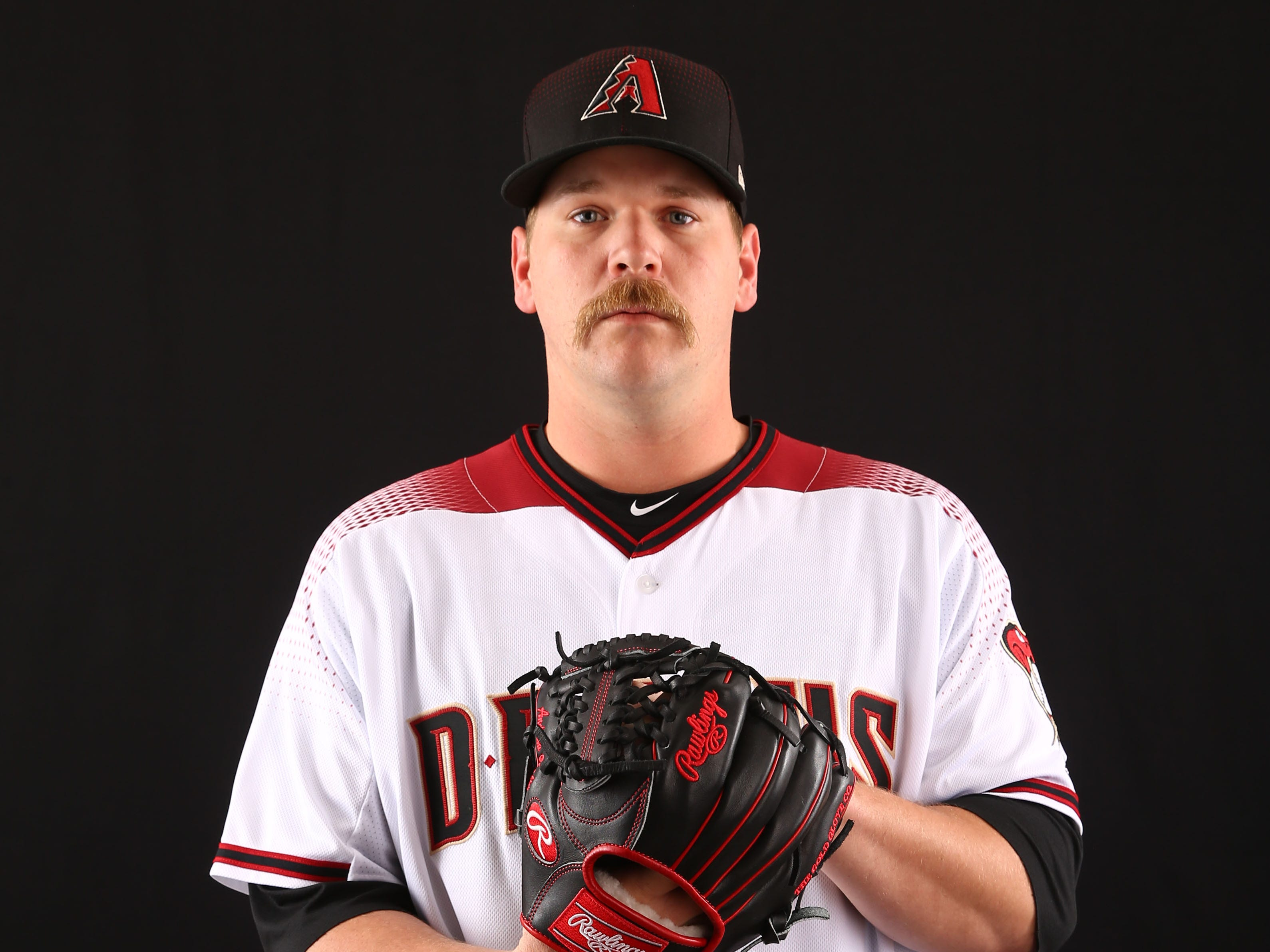 Andrew Chafin of the Arizona Diamondbacks poses for a photo during the annual Spring Training Photo Day on Feb. 20 at Salt River Fields in Scottsdale, Ariz.