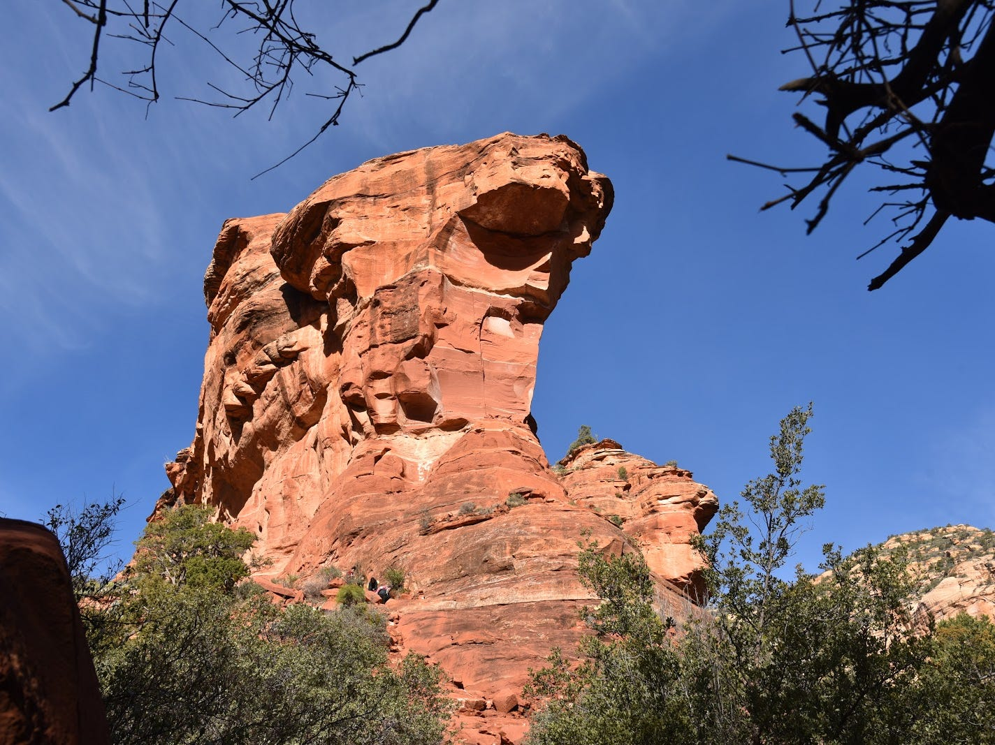 What will you see in Fay Canyon's red rocks?