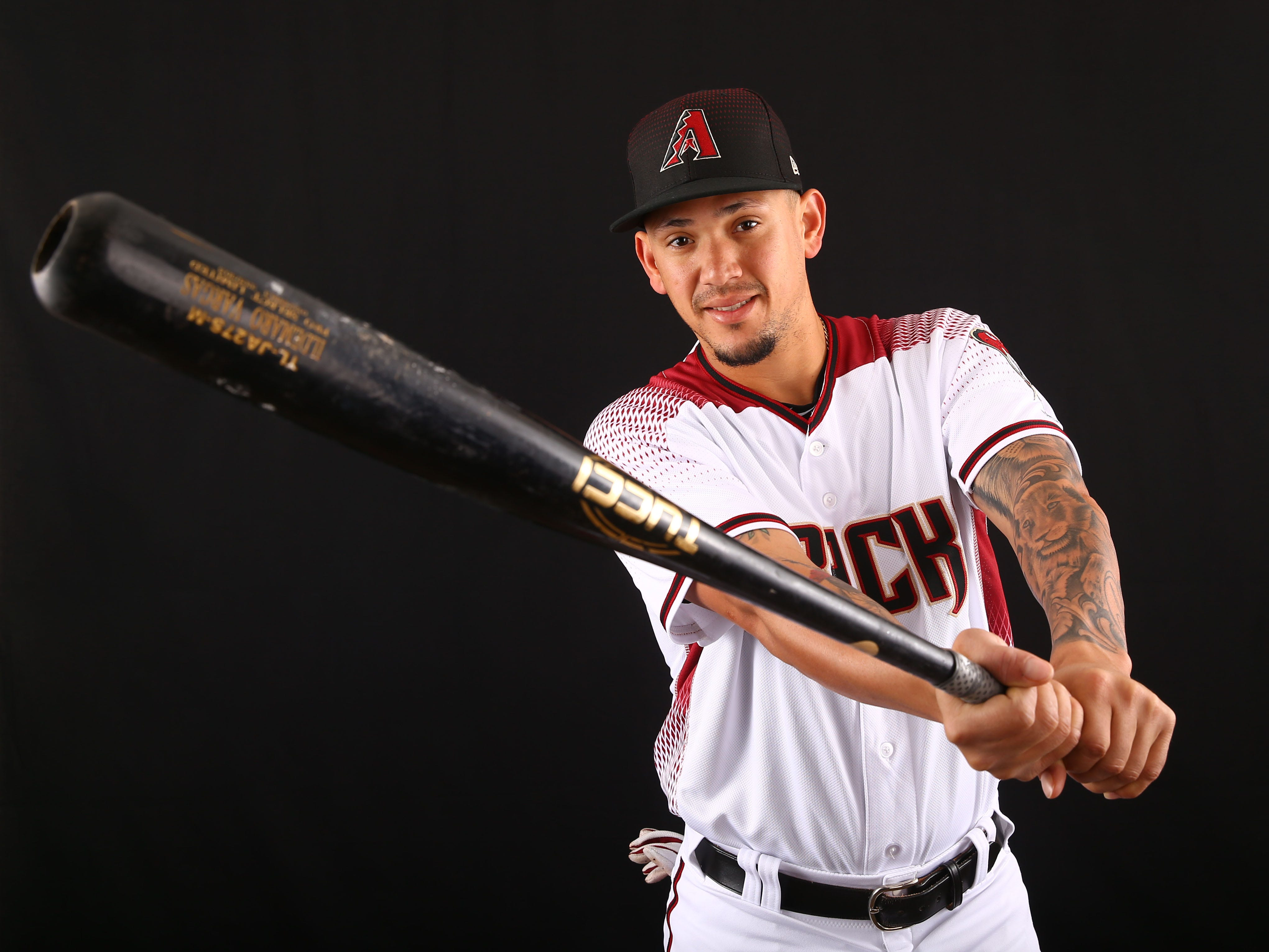 Ildemaro Vargas of the Arizona Diamondbacks poses for a photo during the annual Spring Training Photo Day on Feb. 20 at Salt River Fields in Scottsdale, Ariz.