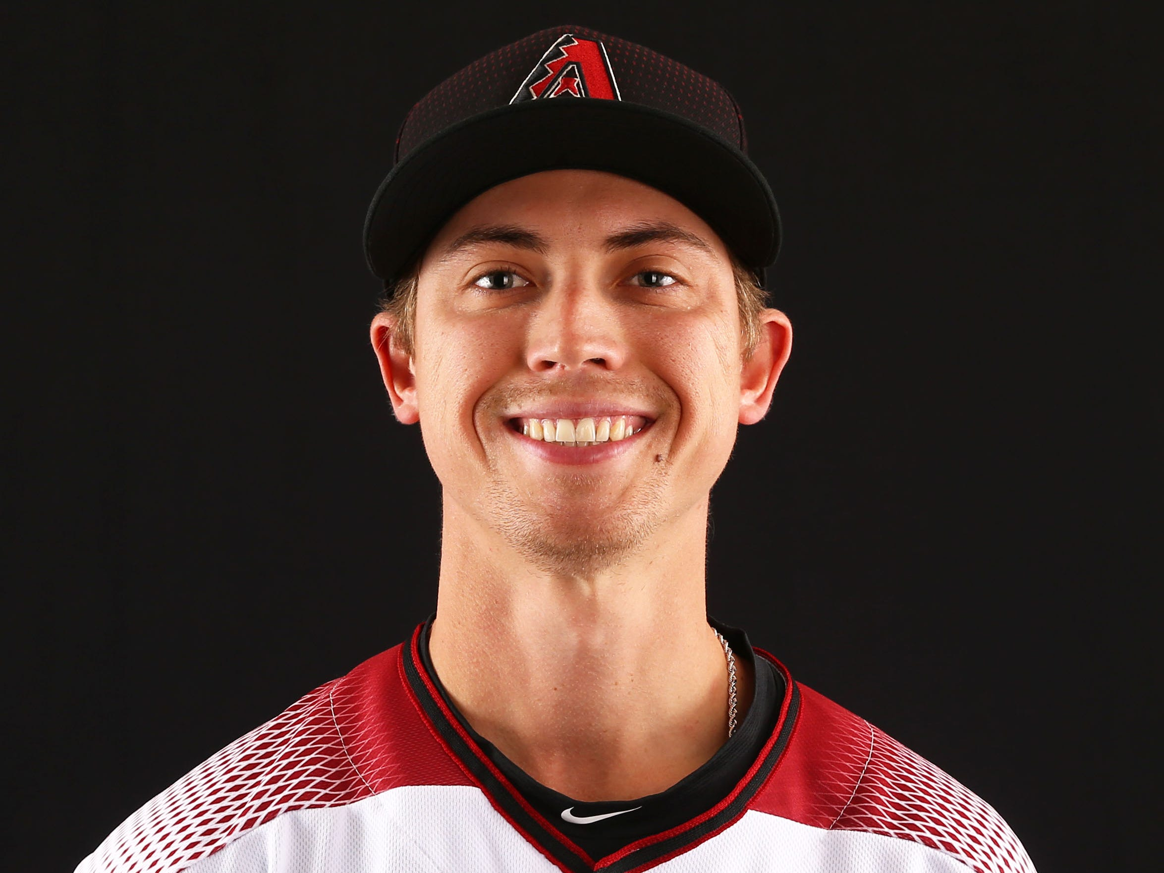 Luke Weaver of the Arizona Diamondbacks poses for a photo during the annual Spring Training Photo Day on Feb. 20 at Salt River Fields in Scottsdale, Ariz.