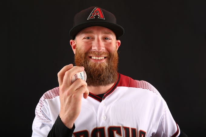 Archie Bradley of the Arizona Diamondbacks poses for a photo during the annual Spring Training Photo Day on Feb. 20 at Salt River Fields in Scottsdale, Ariz.