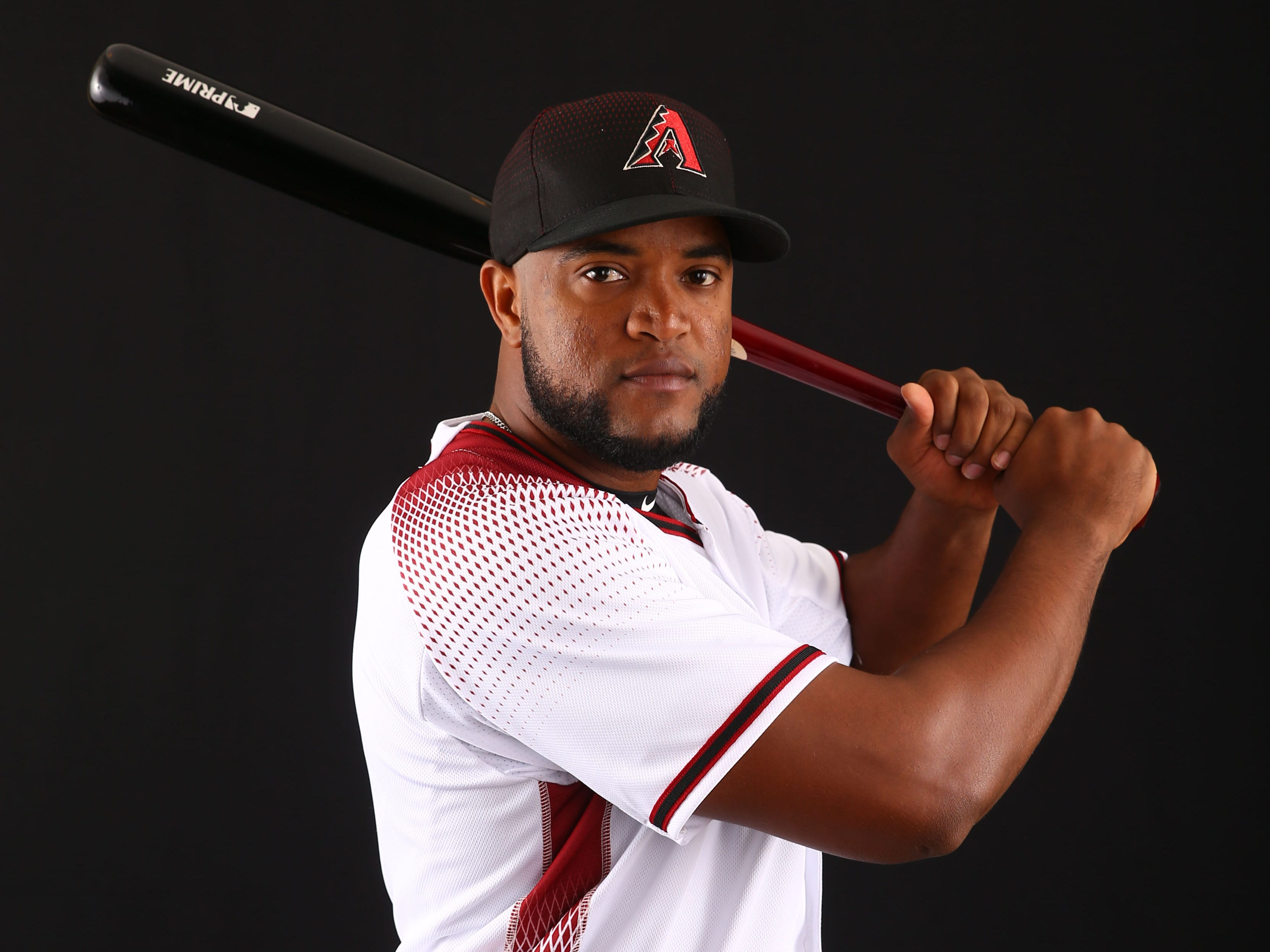 Socrates Brito of the Arizona Diamondbacks poses for a photo during the annual Spring Training Photo Day on Feb. 20 at Salt River Fields in Scottsdale, Ariz.