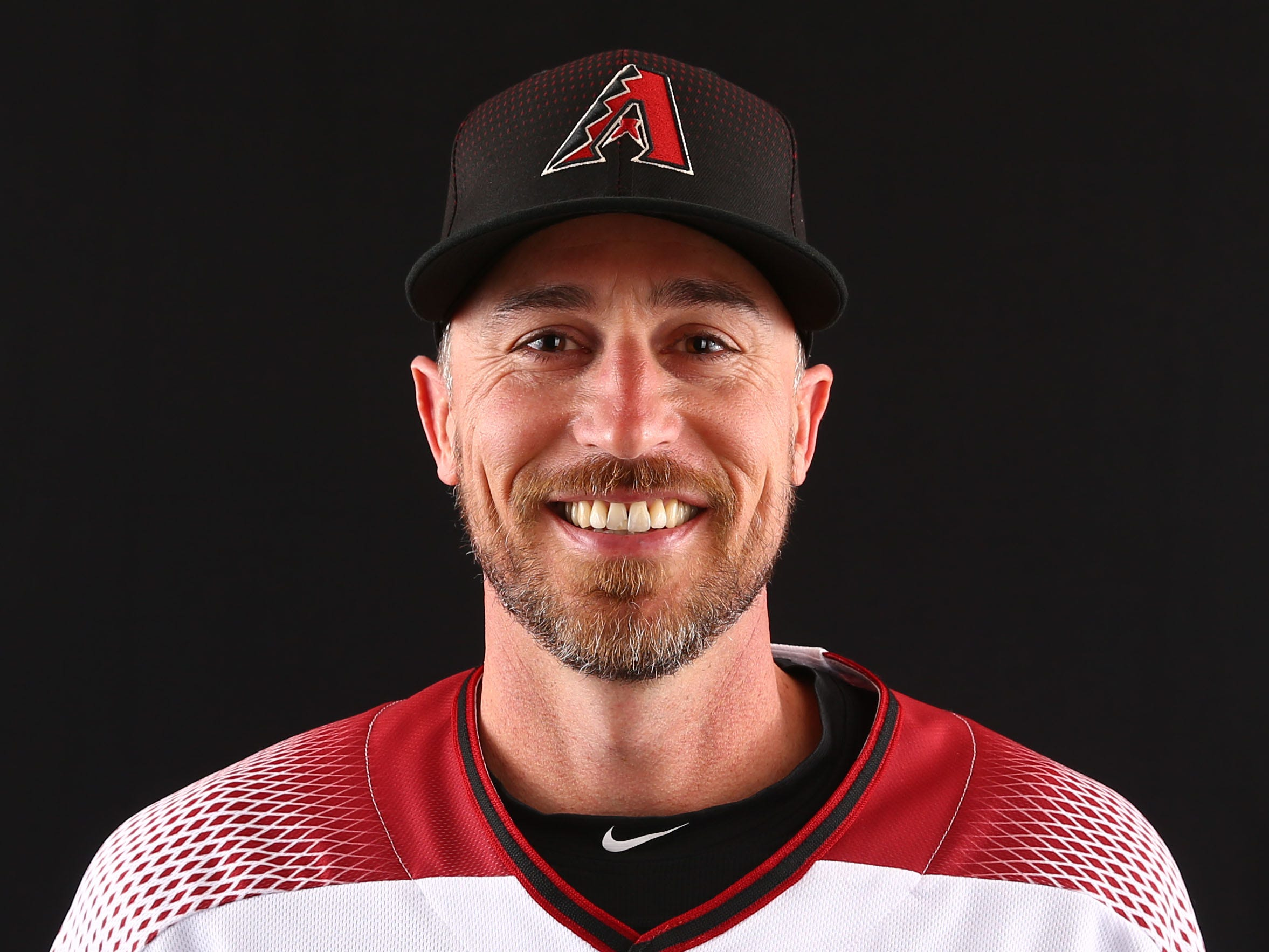 Robby Hammock of Arizona Diamondbacks poses for a photo during the annual Spring Training Photo Day on Feb. 20 at Salt River Fields in Scottsdale, Ariz.