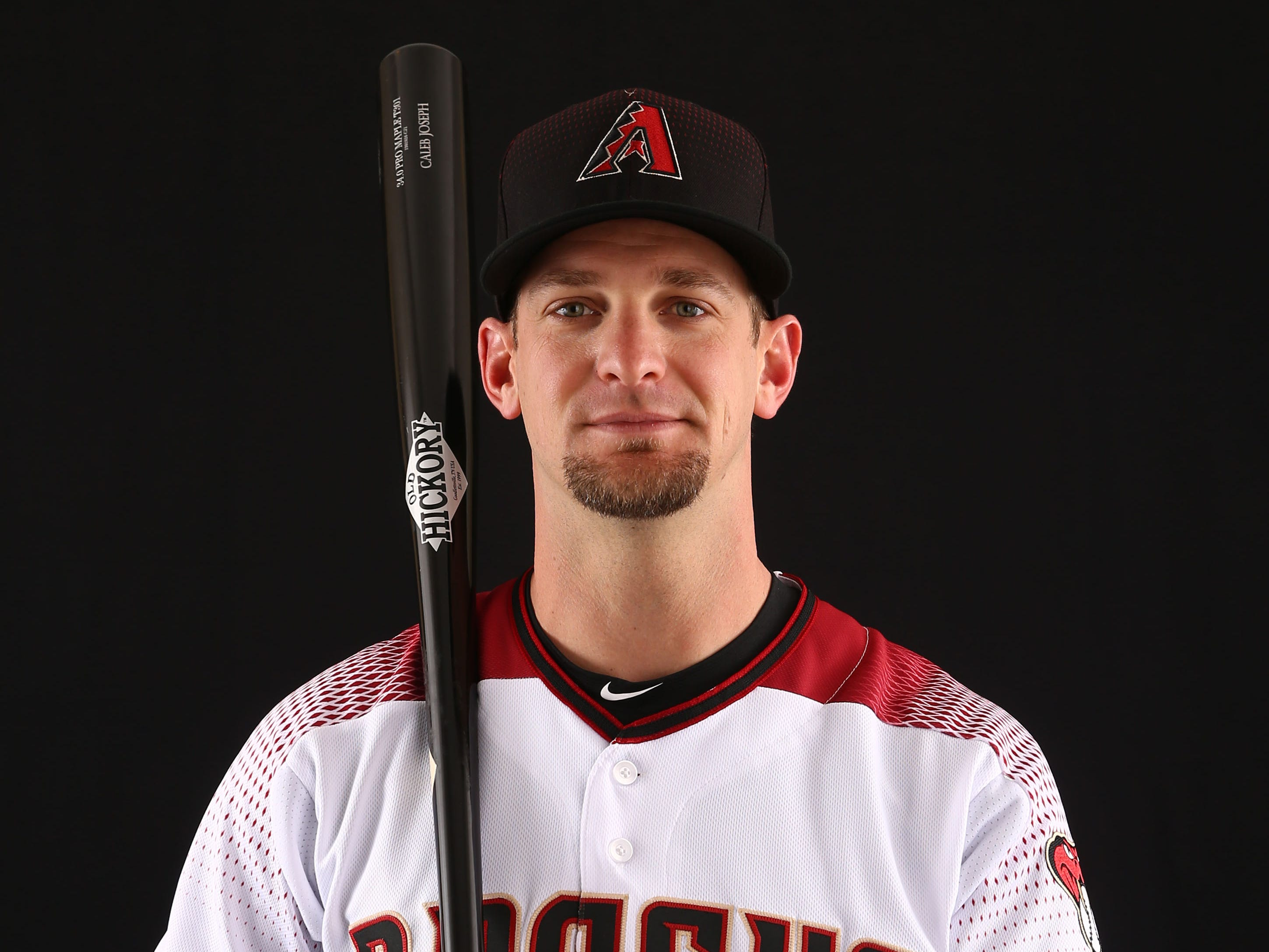Caleb Joseph of the Arizona Diamondbacks poses for a photo during the annual Spring Training Photo Day on Feb. 20 at Salt River Fields in Scottsdale, Ariz.