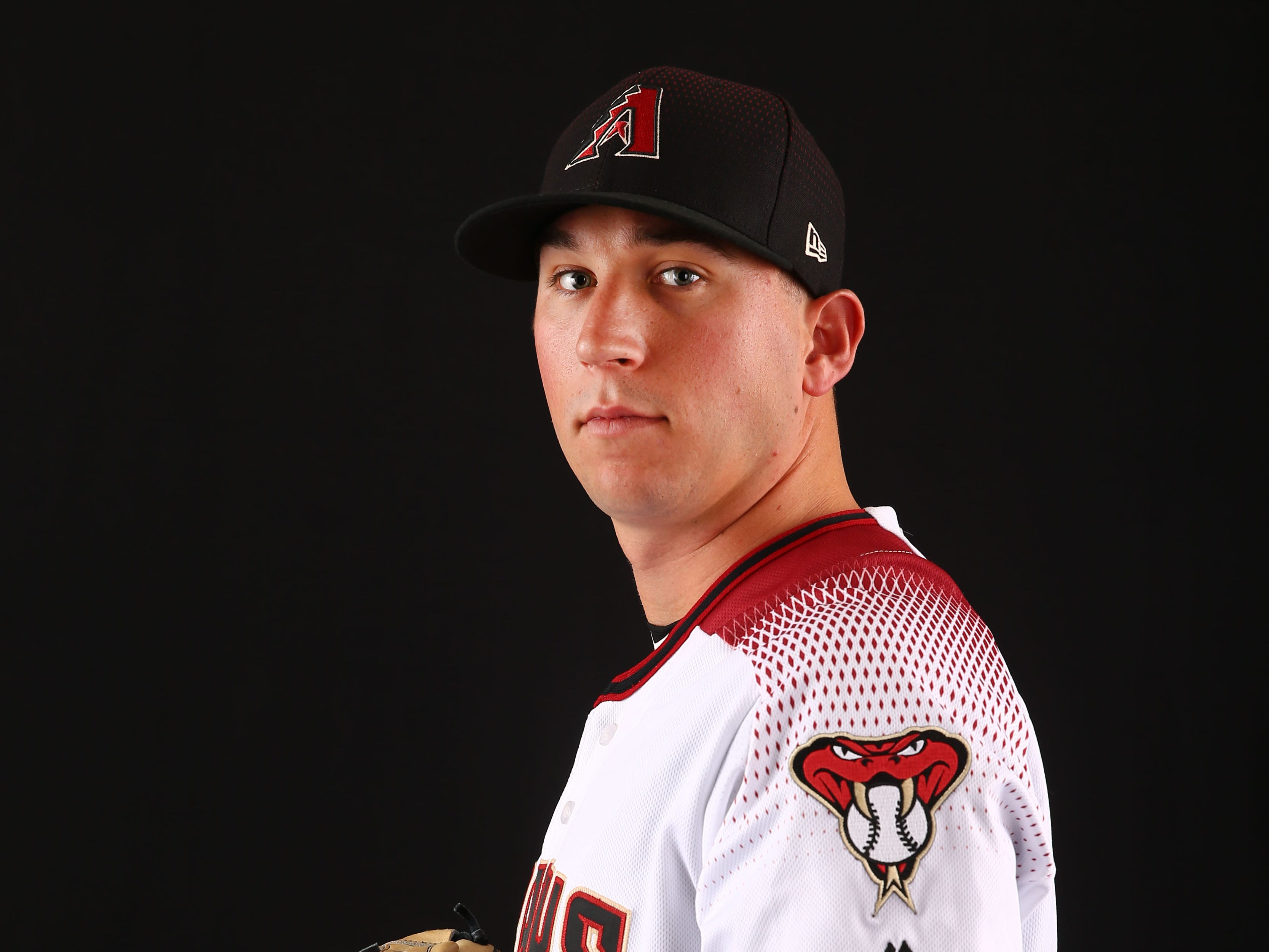 Taylor Widener of the Arizona Diamondbacks poses for a photo during the annual Spring Training Photo Day on Feb. 20 at Salt River Fields in Scottsdale, Ariz.