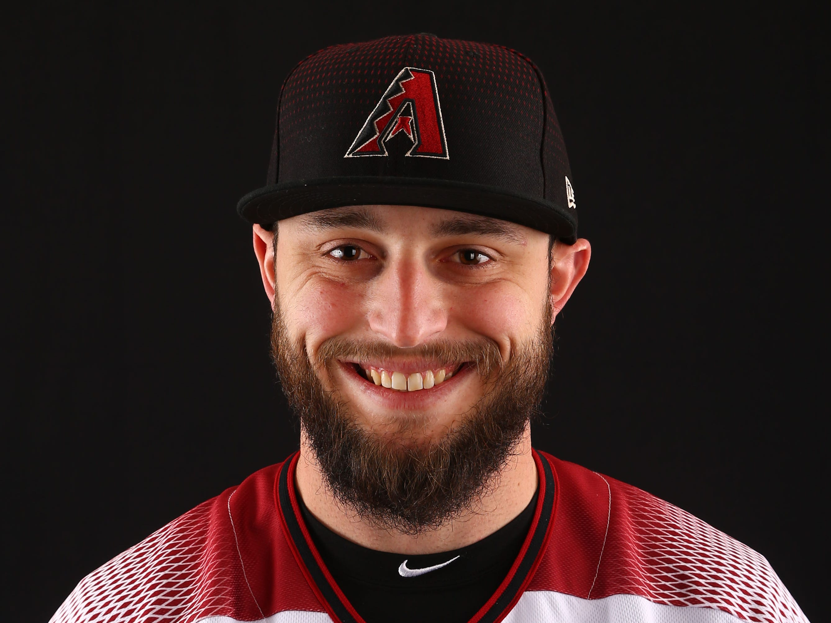 Wyatt Mathisen of the Arizona Diamondbacks poses for a photo during the annual Spring Training Photo Day on Feb. 20 at Salt River Fields in Scottsdale, Ariz.