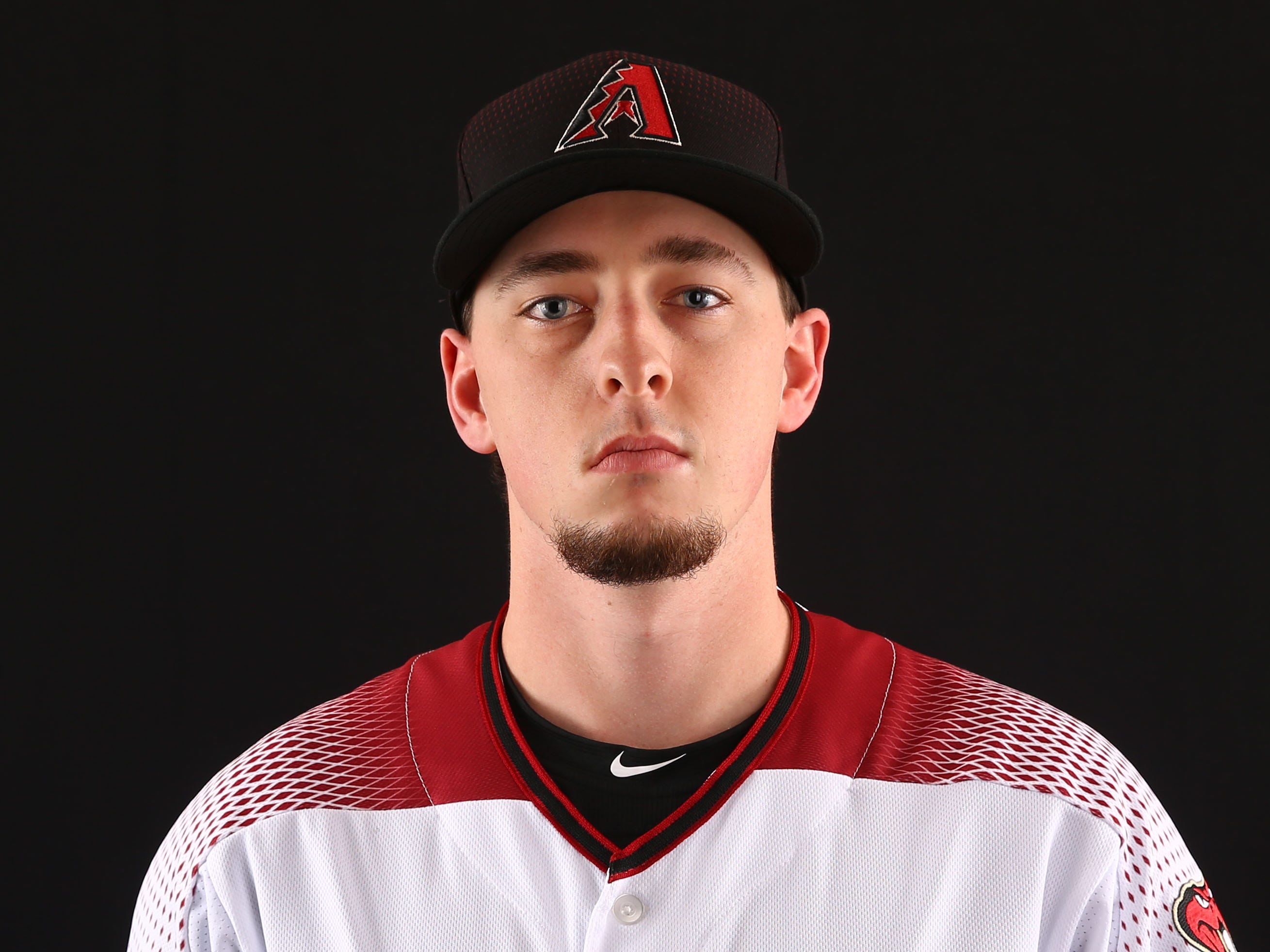 Taylor Clarke of the Arizona Diamondbacks poses for a photo during the annual Spring Training Photo Day on Feb. 20 at Salt River Fields in Scottsdale, Ariz.