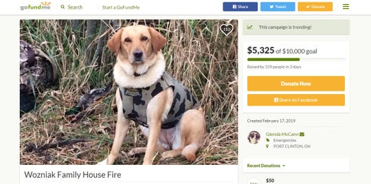 As of Thursday, over $5,000 had been raised through the GoFundMe campaign, which can be visited at gofundme.com/wozniak-family-house-fire.