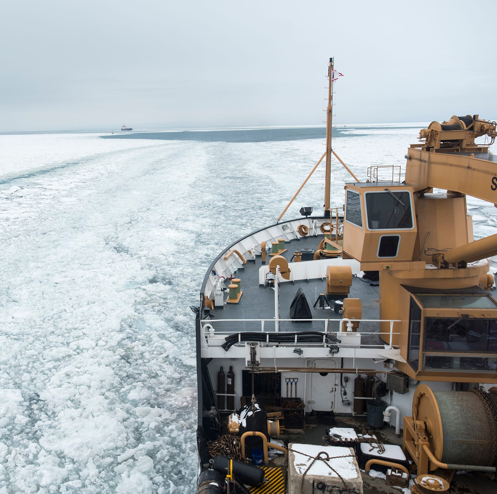 Breaking ice aboard the Hollyhock