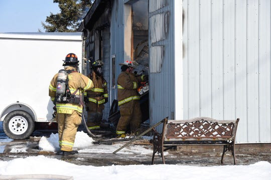 A barn fire on Marsh Road was reported about 11 a.m. Thursday.