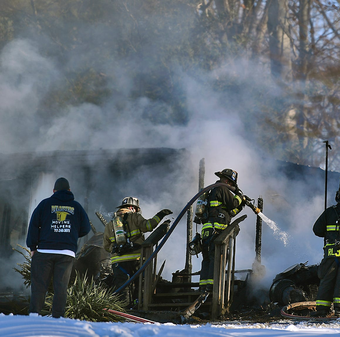 Fire rages through mobile home in Lower Windsor Twp.