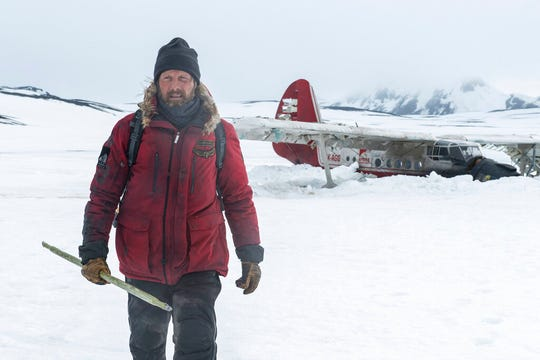 """Mads Mikkelsen stars in """"Arctic."""" The movie is playing at R/C Hanover Movies."""