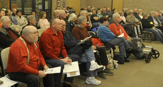 More than 80 people showed up for a public hearing Wednesday to discuss Fernley's proposed redevelopment district.