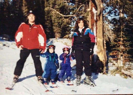 The Smallhouse family shown skiing at Mt Rose, left to right, Mark, Megan, Matt and Tammy.