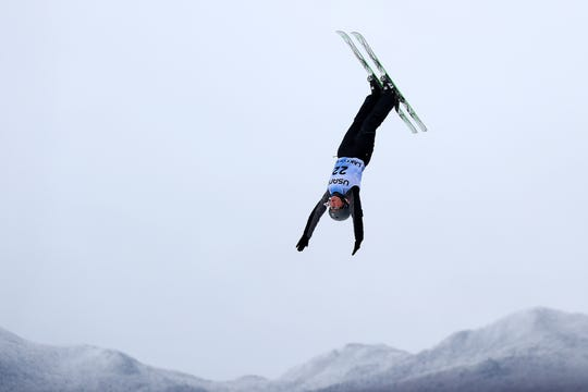 Megan Smallhouse of the United States competes in Women's Aerials Qualifications during the FIS Freestyle Ski World Cup 2019 at the Lake Placid Ski Jumping Complex on January 19, 2019 in Lake Placid, New York.
