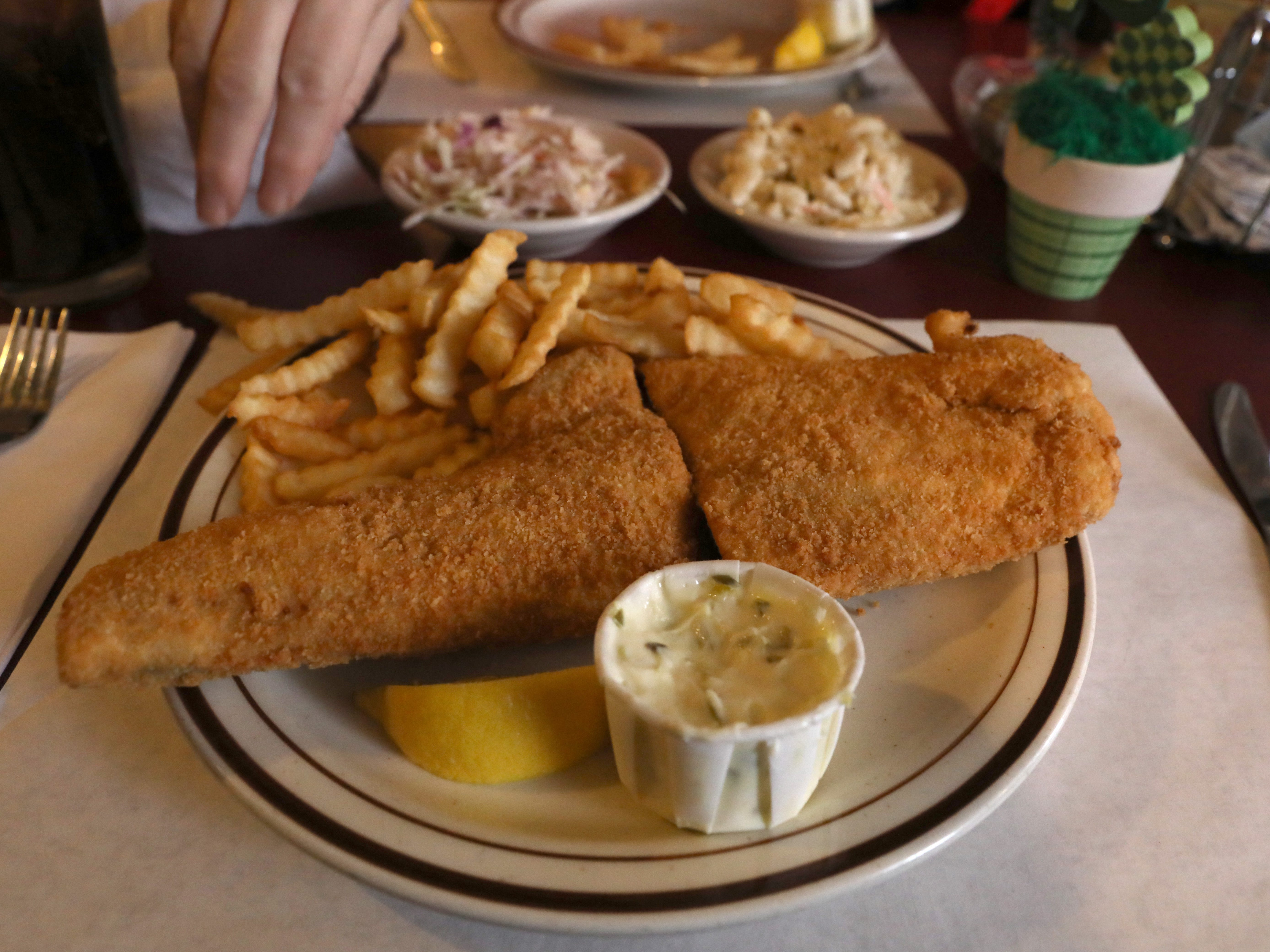 Fish fry at Stone's Countryside Tavern on Buffalo Rd. in Churchville Thursday, Feb. 21, 2019.