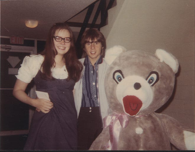 Karen Weis Peruzzini, Davy Jones and a big, stuffed bear pose for this photo, taken by Marsha Pappert Lenzi in 1969, when Jones and the Monkees came to Rochester.  For My Life, My Words, March 11, 2012.