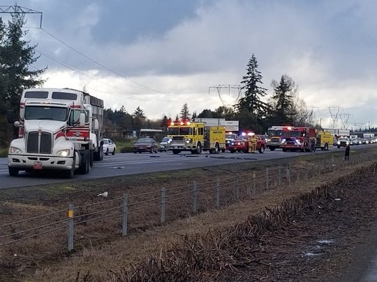 A major crash near Woodburn is slowing traffic on Interstate 5 heading southbound and northbound, according to Oregon Department of Transportation's Trip Check.