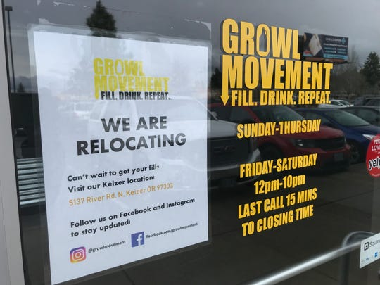Beer bar (and growler-fill station) Growl Movement has closed their location on South Commercial.
