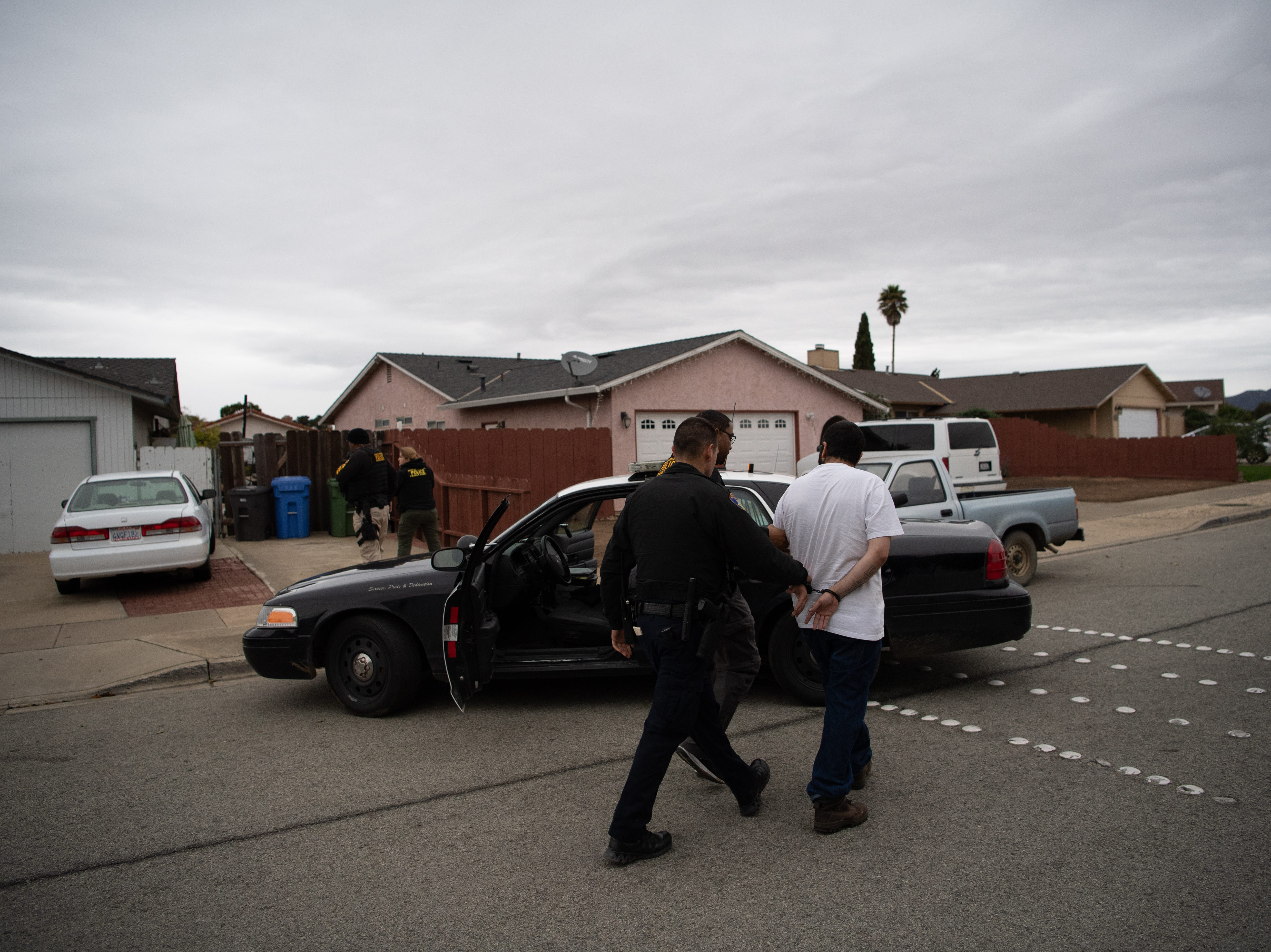 """A large-scale, four-month-long gang enforcement operation named """"Operation Triple Beam"""" concluded Feb. 15 resulting in arrest of 197 fugitives, 94 of whom were gang members or associates. The U.S. Marshals Pacific Southwest Regional Fugitive Task Force led operation involved multiple federal, state and local law enforcement agencies concentrating their efforts and focus on known street gangs in Monterey County, particularly within the City of Salinas. During Operation Triple Beam (OTB), which was conducted from October 2018 to February 2019, Salinas Police noted significant reduction in violent crime reports in comparison to the prior year.  Specifically noted were an 87.5 percent decrease in homicide incidents, a 46.6 percent decrease in drive-by-shootings, a 31.7 percent decrease in shootings overall, and a 66.6 percent decrease in armed robberies. Since 2010, the U.S. Marshals Service has led more than 60 counter-gang operations which have yielded over 8,000 arrests and the seizure of more than 1,800 illegal firearms."""
