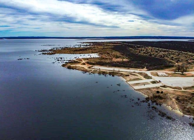Twin Buttes Reservoir north entrance Feb. 20, 2019.