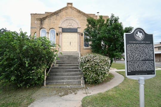 Congregation Beth-Israel was originally chartered in 1913, but their Synagogue was constructed in 1928 and dedicated in 1929, at 1825 W. Beauregard Ave. in San Angelo.
