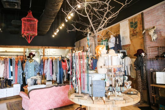 Clothes, gifts and accessories are displayed at The Roost Boutique, at 3560 Knickerbocker Road.