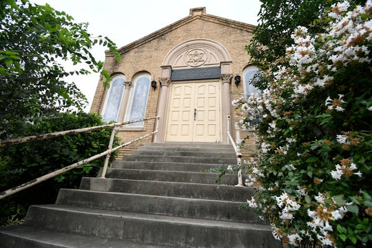 Flowers bloom in anticipation of spring at Congregation Beth-Israel, 1825 W. Beauregard Ave. The synagogue has served the Jewish population of San Angelo since it was completed in 1928.