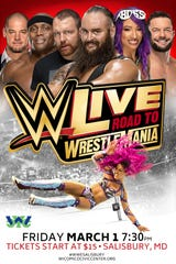 WWE Live Road to Wrestlemania comes to the Wicomico Youth & Civic Center on Friday, March 1, 2019 at 7:30 p.m.