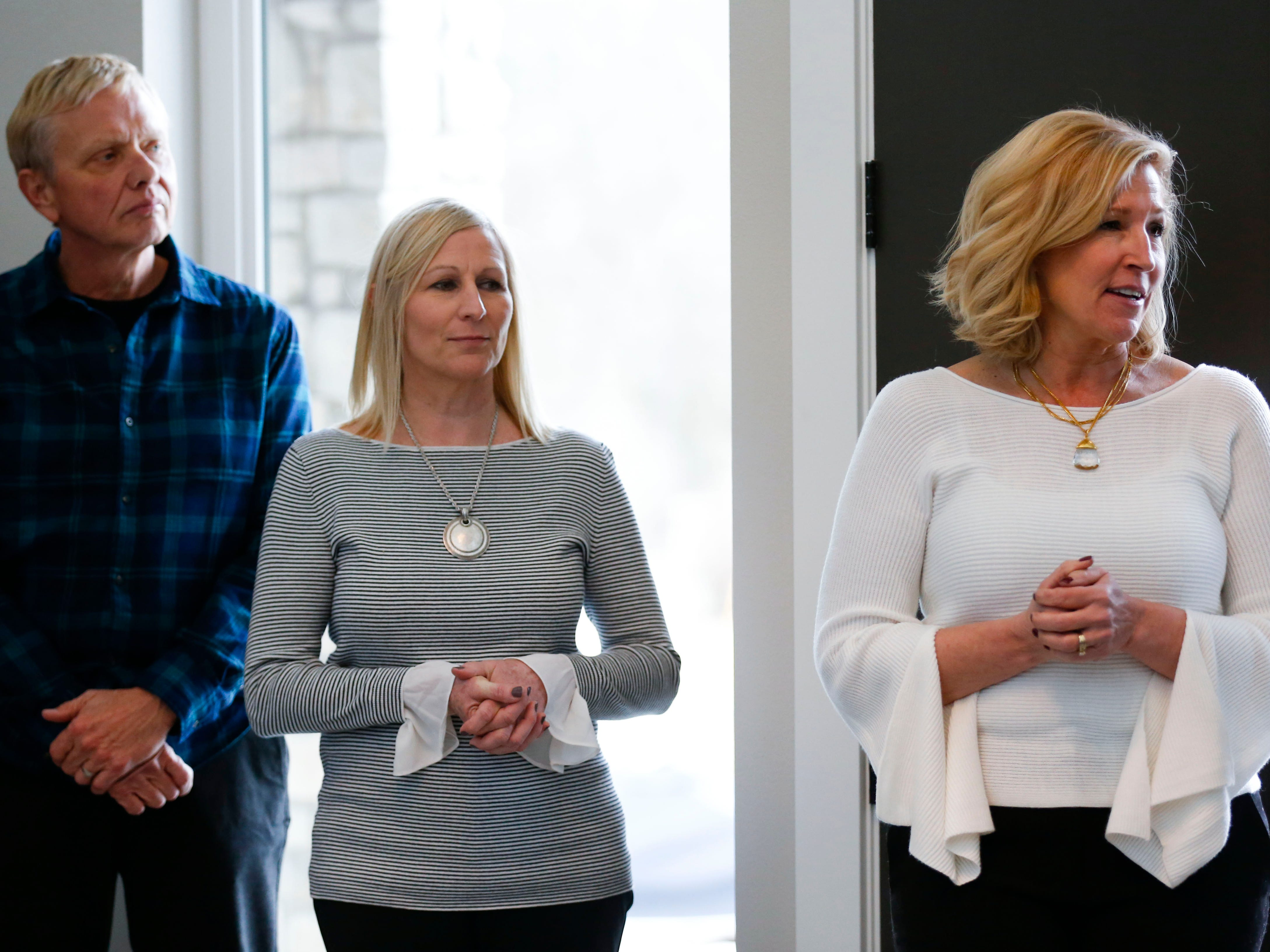 The Synergy Executive Leadership Team including Executive Director Paige Tuck,  right, Clinical Director Ann Koetting, and Recovery Support Director Dan Piddington.