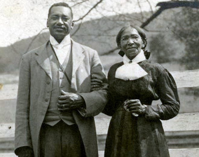 William Henry Sheppard with his mother, Sarah Frances, undated.