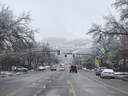 A rare blanket of snow covered the St. George area overnight, pushing local schools to open later than usual and slowing the Thursday morning commute.