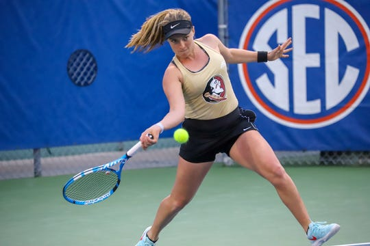 FSU sophomore Carly Touly enters the Duke matchup 5-1 in singles play on the season.