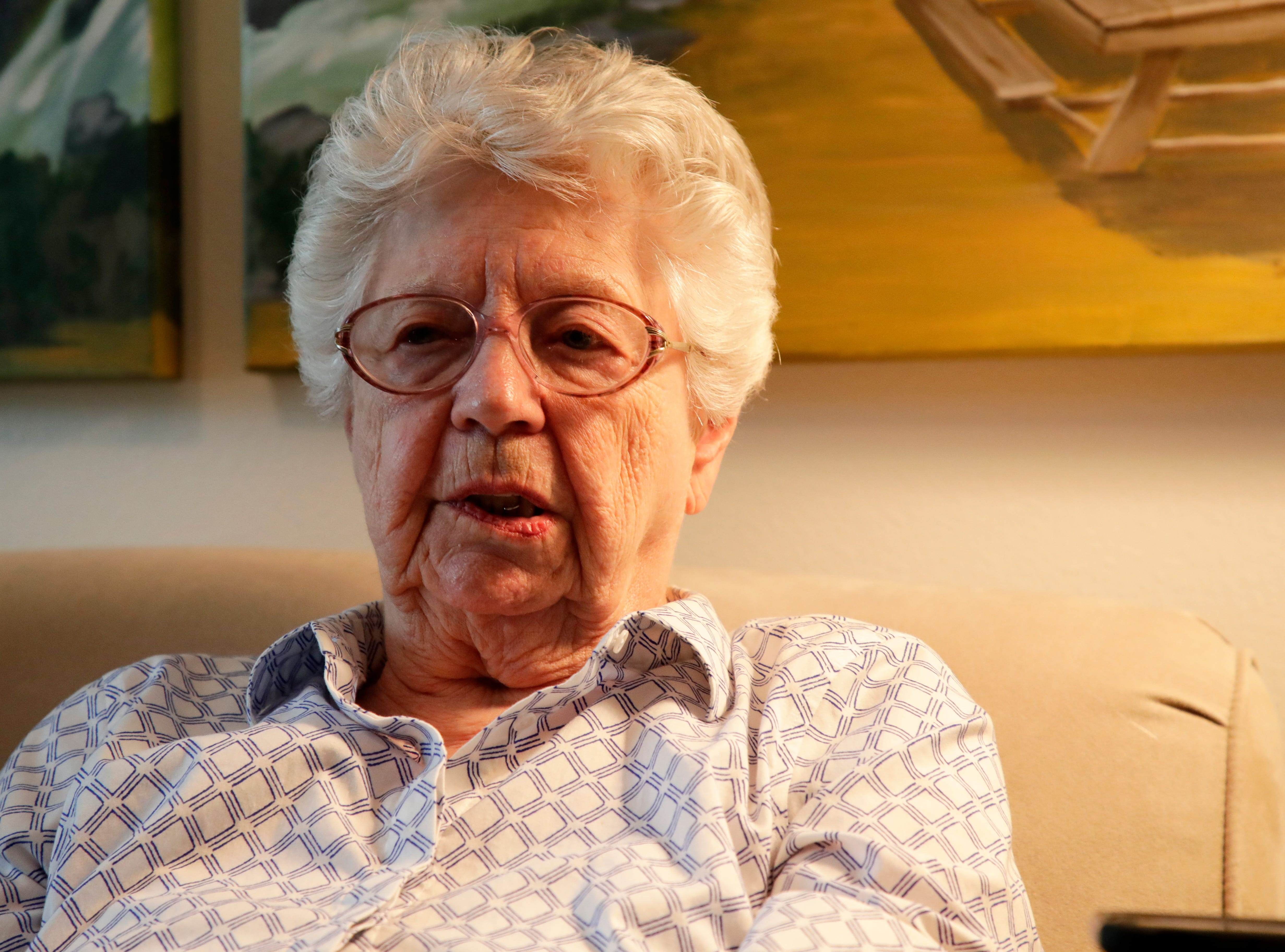 Emily Golz, 92, talks about her brother Earl Baum, who died at Pearl Harbor in 1941. Baum's remains were identified last year through DNA. He will be buried March 8, 2019 at Tallahassee National Cemetery.