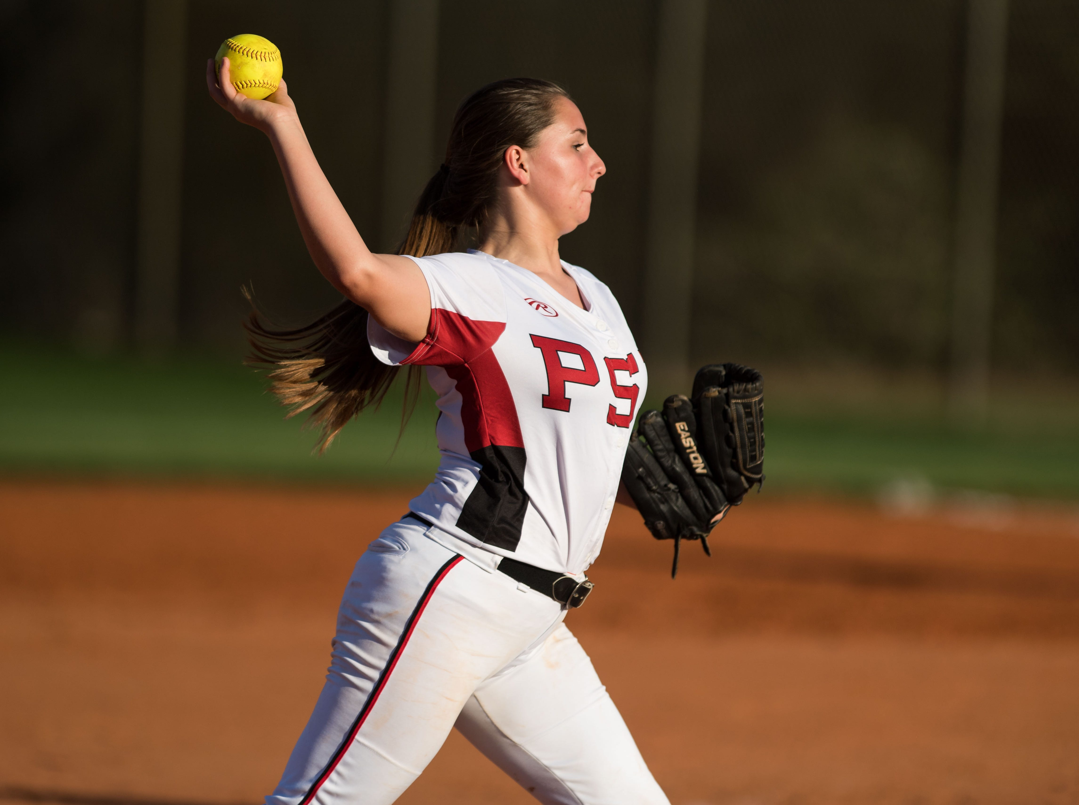 St. Lucie West Centennial plays against Port St. Lucie during the high school softball game Wednesday, Feb. 20, 2019, at St. Lucie West Centennial High School in Port St. Lucie.