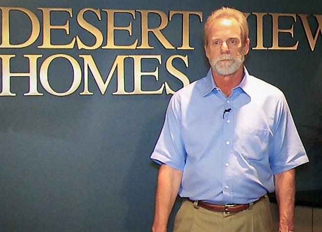 Randy O'Leary, CEO and owner of View Homes, which includes Desert View Homes, his original El Paso company, stands at the company's East El Paso headquarters at 7910 Gateway East Blvd., near Yarbrough Drive.