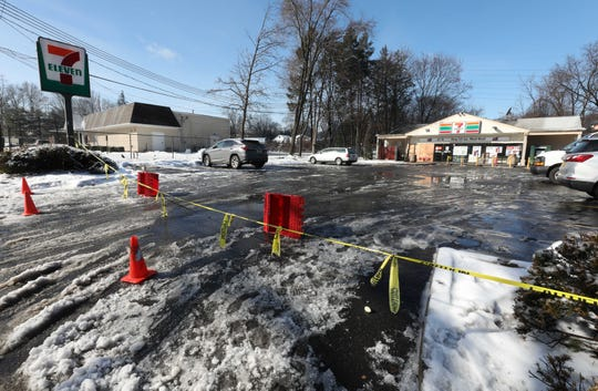 The 7-Eleven on Central Highway in Haverstraw is still a crime scene, Feb. 21, 2019.