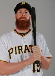 This is a 2019 photo of Colin Moran of the Pittsburgh Pirates baseball team. This image reflects the 2019 active roster as of Feb. 20, 2019, when this image was taken. (AP Photo/Gerald Herbert)