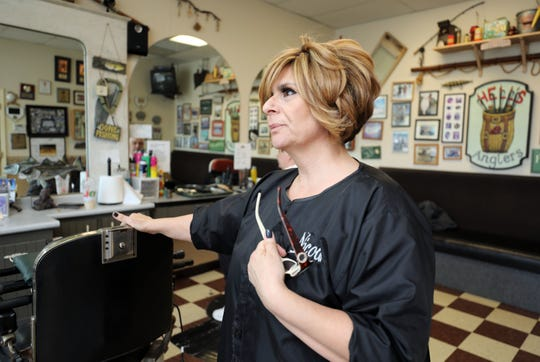 Nicolle Randles, a hairdresser at George's Barber Shop in Haverstraw, talks about the horrific crime at the 7-Eleven on Central Highway in Haverstraw, Feb. 21, 2019.
