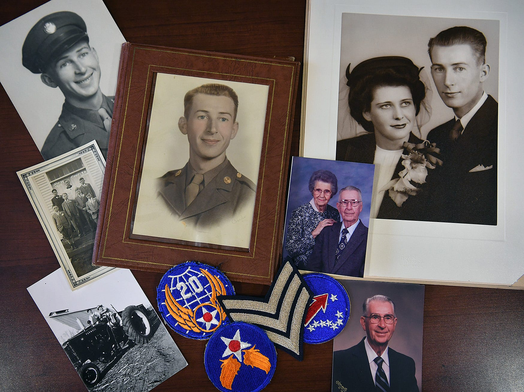 Family photos of Joe Cuba. Cuba grew up farming in Megargel, Texas and later served with the U.S. Army Air Corps in World War II. He will turn 100 on March 2.