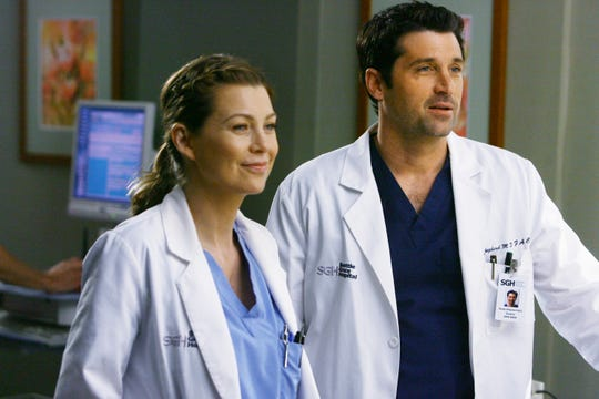 "Ellen Pompeo and Patrick Dempsey in the fifth season of ""Grey's Anatomy."" Dempsey left after 11 seasons on the show."