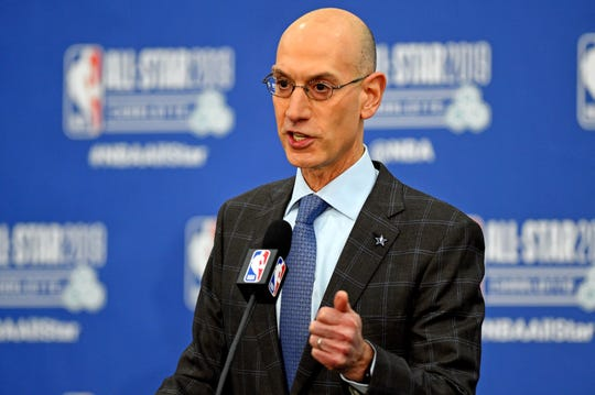 NBA commissioner Adam Silver during 2019 All-Star Weekend.
