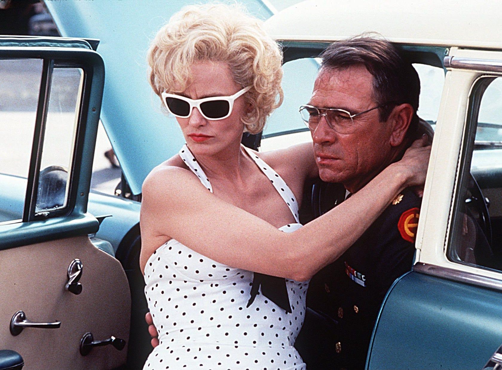 "Jessica Lange and Tommy Lee Jones in ""Blue Sky."""