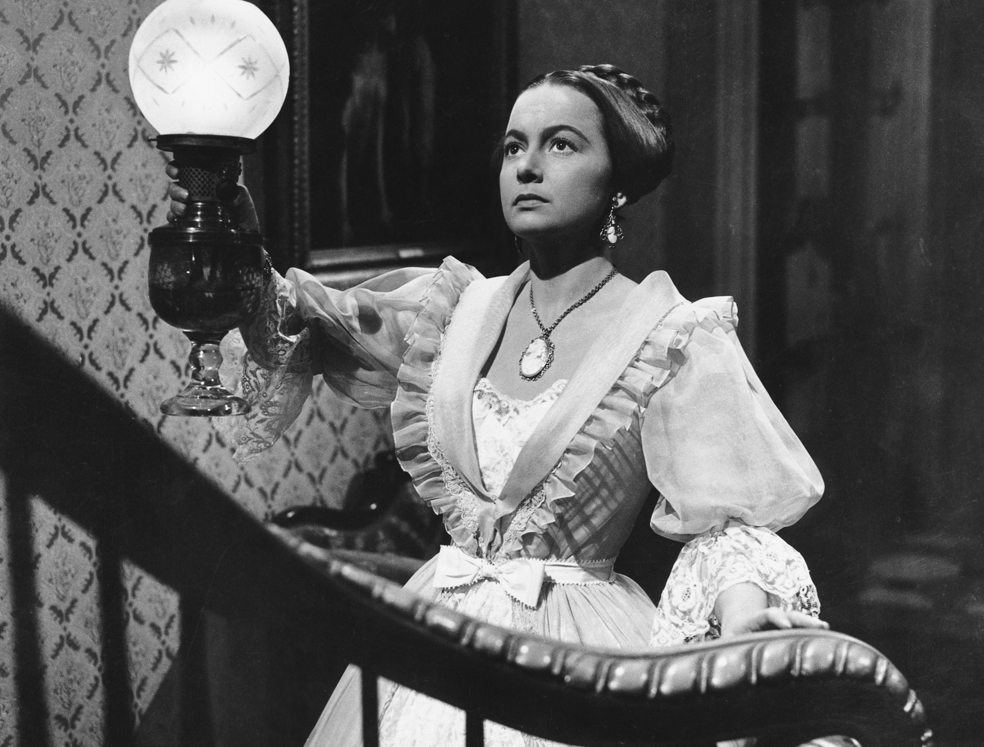 ONE TIME USE 2/21/2019 Olivia de Havilland as Catherine Sloper in the 1949 film The Heiress. (Photo by John Springer Collection/CORBIS/Corbis via Getty Images)