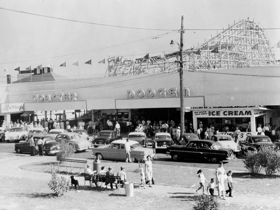 The Dodgem Corp. installed its first bumper carattraction a few miles away from its shop at Salisbury Beach in Massachusetts in the early 1920s.