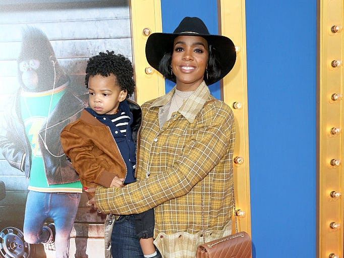 "Singer Kelly Rowland and Titan Rowland attend the premiere Of Universal Pictures' ""Sing"" on December 3, 2016 in Los Angeles, California."