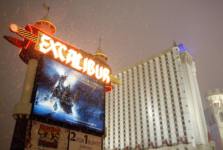 Winter weather isn't just battering the eastern US. It's even snowing in Las Vegas