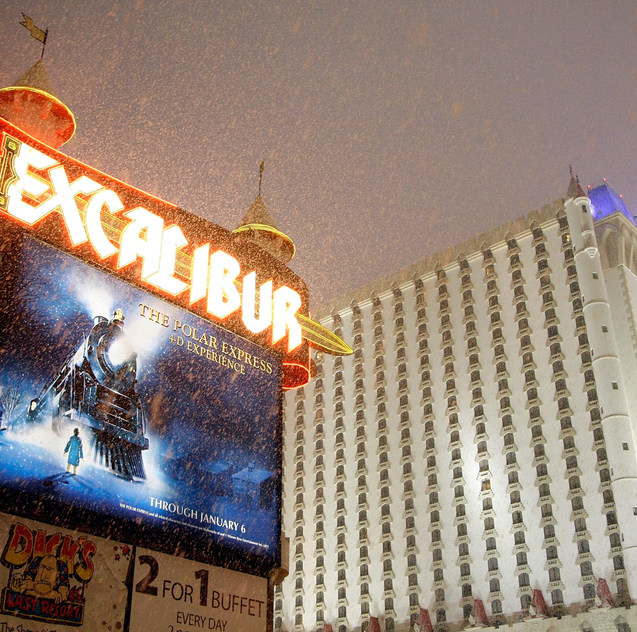 Winter weather isn't just battering the eastern US. It's even snowing in Las Vegas